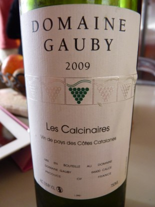 Gauby les calcinaires blanc 2009
