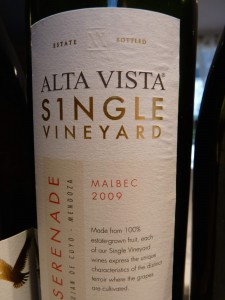 alta vista serenade malbec 2009 single