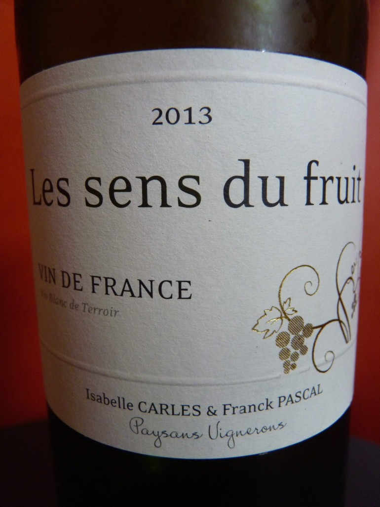 sens du fruit blanc 2013