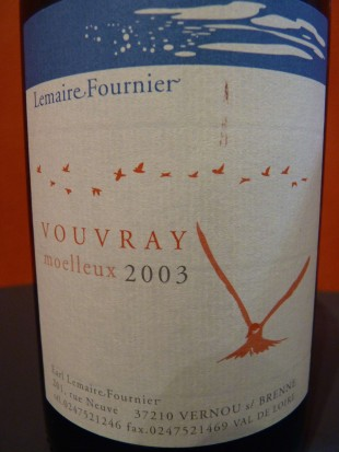Vouvray Lemaire Fournieur moelleux 2003