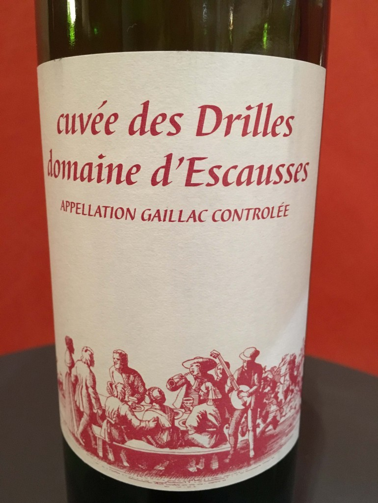 Gaillac Escausses cuvee des Drilles 2014