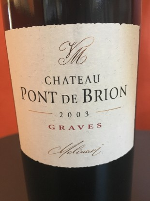 chateau pont de brion 2003 rouge