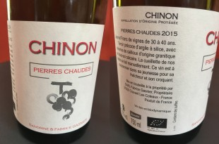 confirmation Chinon Pierres Chaudes 2015