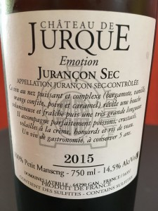 Chateau de Jurque Emotion 2015 2