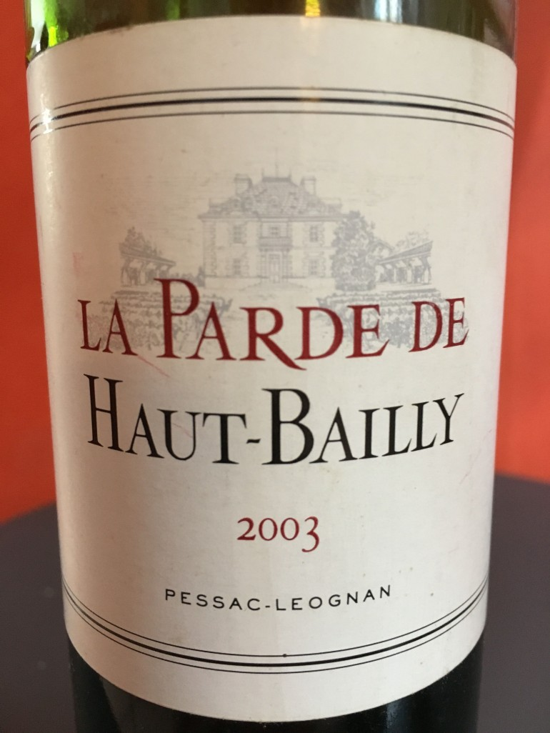 parde haut bailly 2003