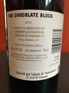 block chocolate 2015 wine 2